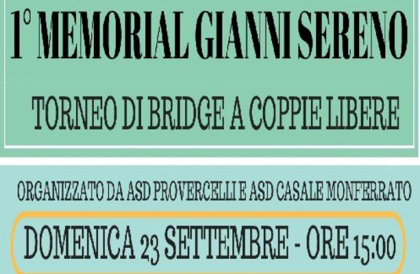 Classifica Finale I Memorial Gianni Sereno