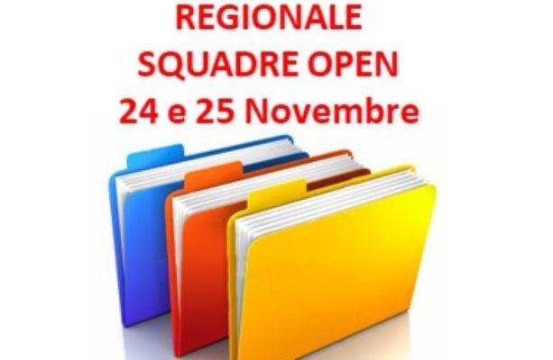 Circolare di gioco Regionale Squadre Open